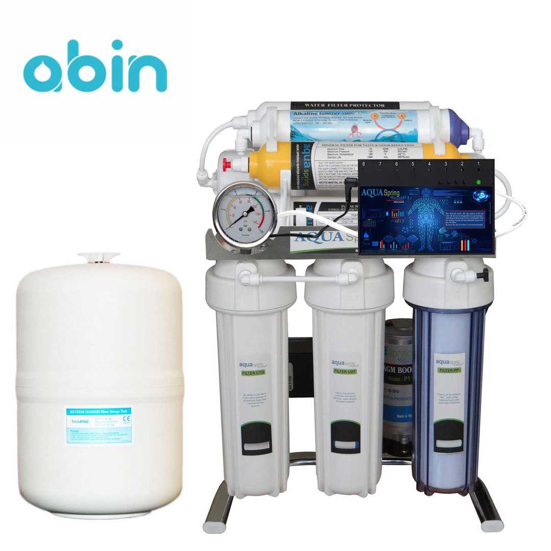 دستگاه تصفیه آب خانگی آکوا اسپرینگ (Aqua Spring) مدل CHROME-BA 8