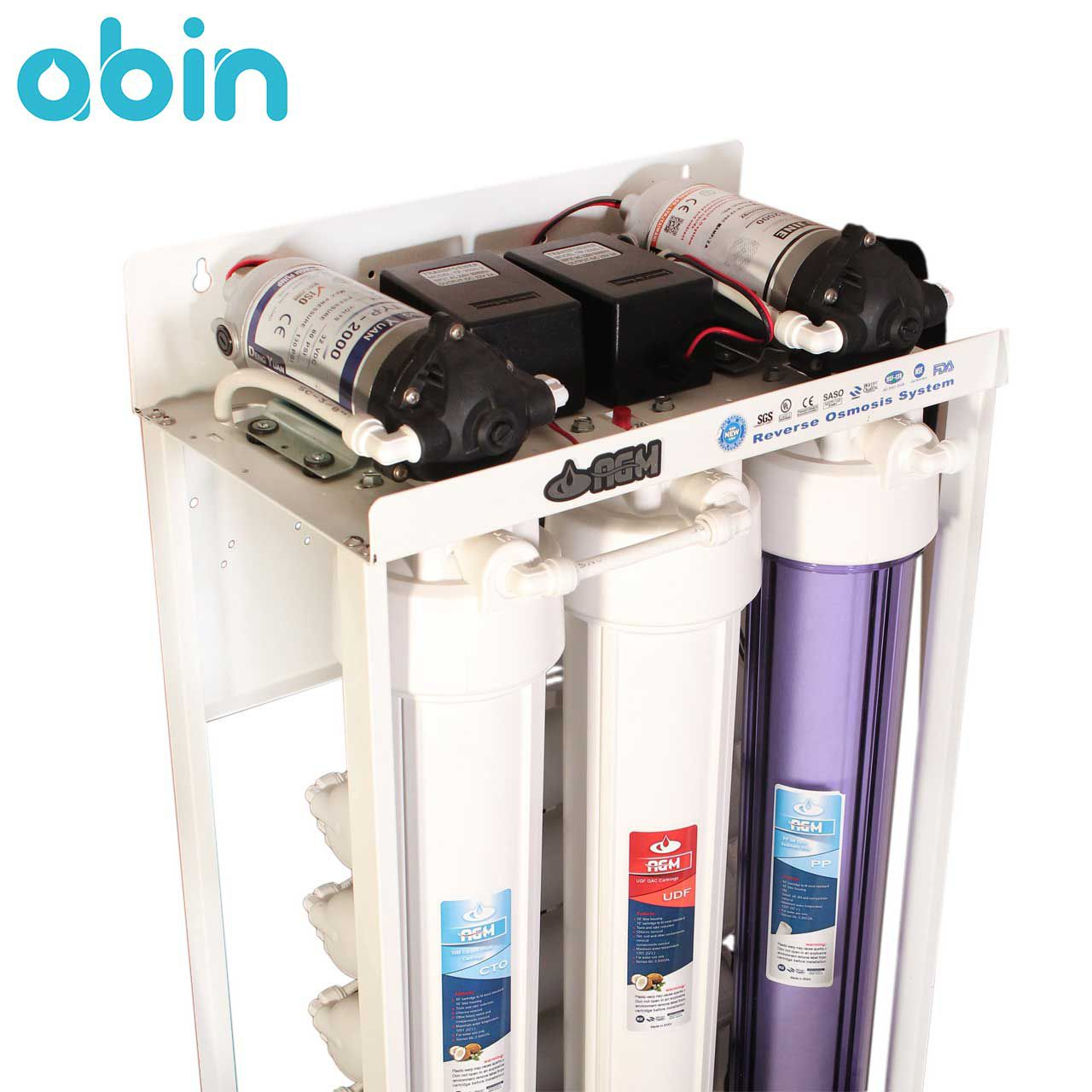 دستگاه تصفیه آب نیمه صنعتی اسمز معکوس 400 گالنی ای جی ام (AGM)