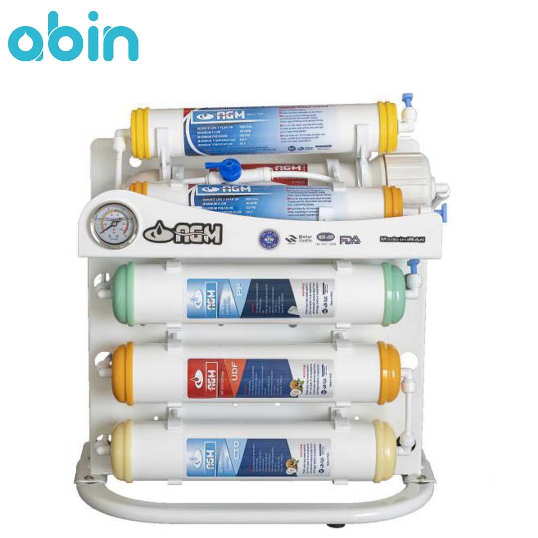 دستگاه تصفیه آب شش مرحله ای با فیلترهای اینلاین AGM