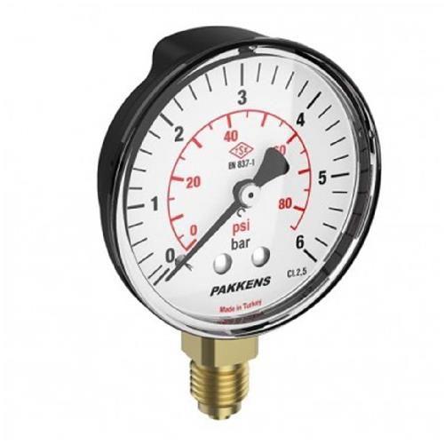 گیج فشار خشک پکنز (PAKKENS)- ششبار صفحه 10 سانت