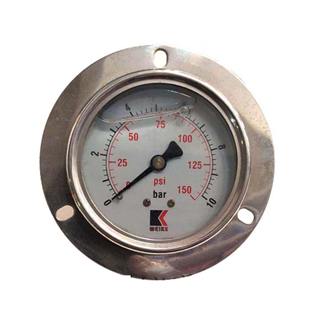 گیج فشار روغنی ویک (WEIKE)- ده بار صفحه 6 سانت