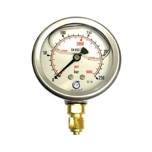 گیج فشار روغنی دراگون 250 بار- صفحه 6 سانت (DRAGON)