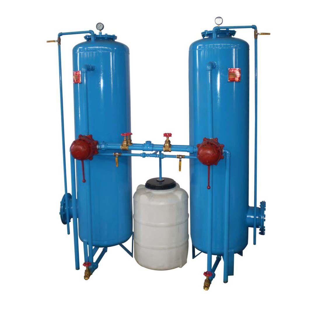فیلتر سختی گیر رزینی فلزی رخشاب با ظرفیت 200 کیلو گرین