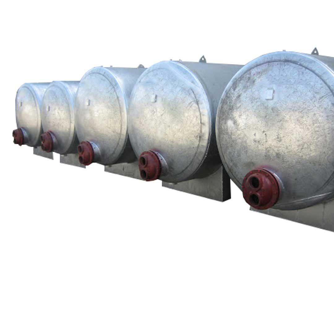 منبع کویل دار افقی 1200 لیتری با ضخامت 4 میلی متر رخشاب
