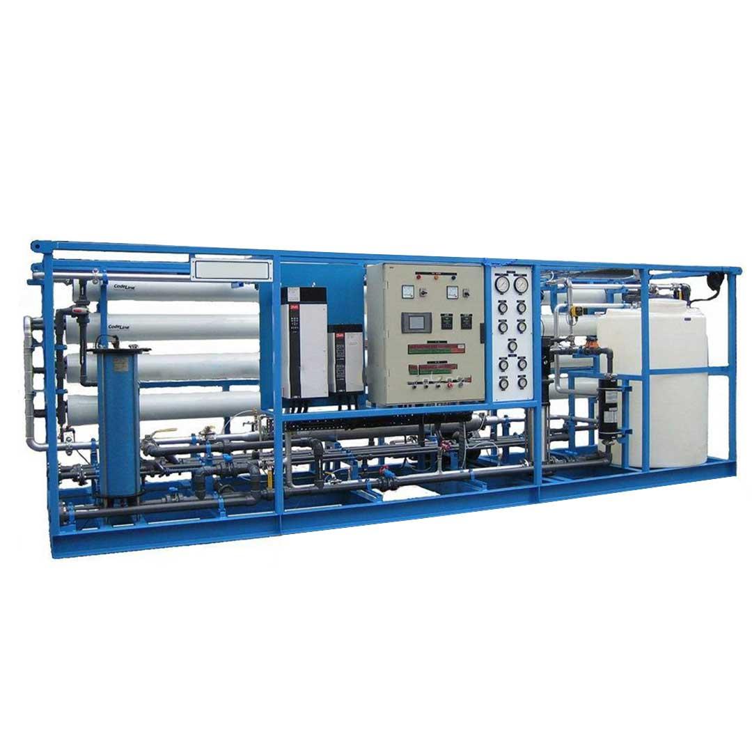 دستگاه تصفیه آب دریا| آب شیرین کن دریایی 150 متر مکعب