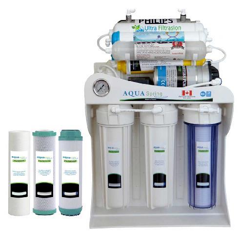 دستگاه تصفیه آب خانگی آکوآ اسپرینگ مدل UF-SF5000 به همراه فیلتر مجموعه سه عددی