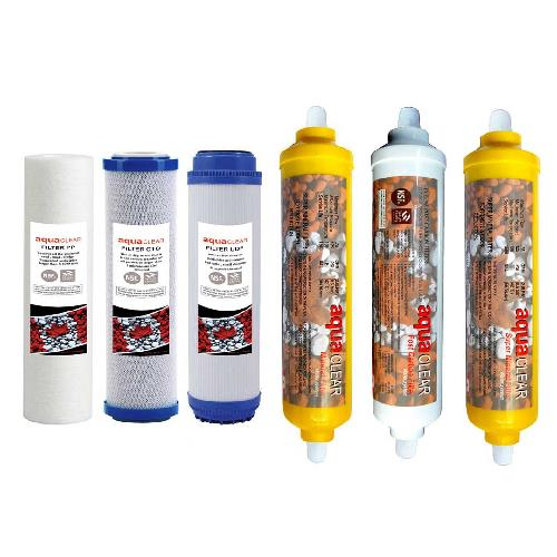 ست 6 عددی فیلترهای تصفیه آب خانگی آکوآ کلیر مدل REFILL – AC6
