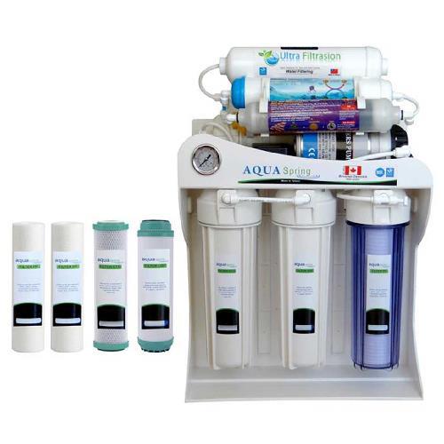 دستگاه تصفیه آب خانگی آکوا اسپرینگ مدل UF-SF4000 به همراه فیلتر بسته 4 عددی
