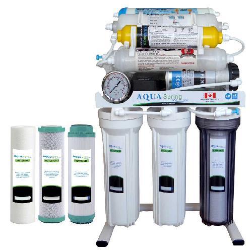 دستگاه تصفیه آب خانگی آکوآ اسپرینگ مدل RO - NF2600 به همراه فیلتر مجموعه سه عددی
