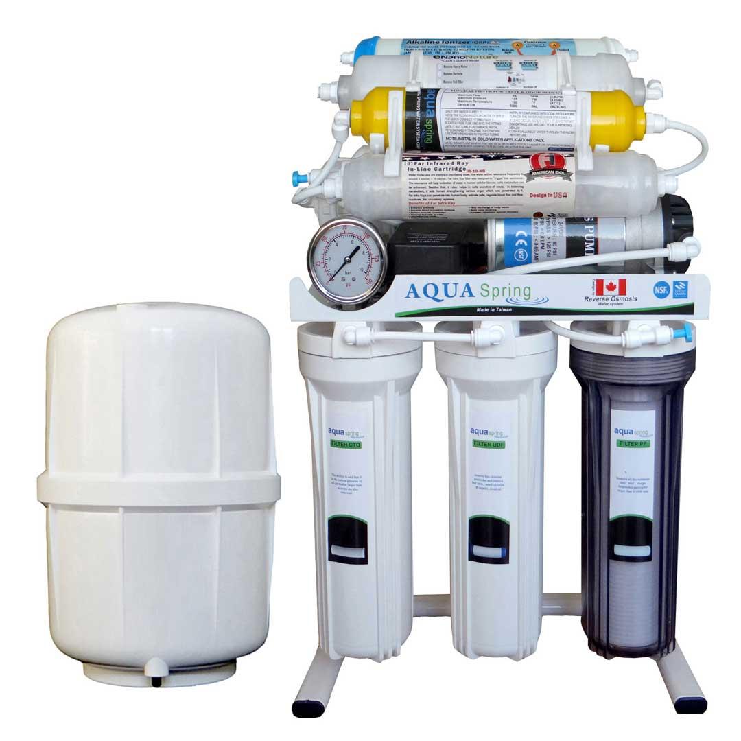 دستگاه تصفیه آب خانگی آکوا اسپرینگ (Aqua Spring) مدل RO - NF2600