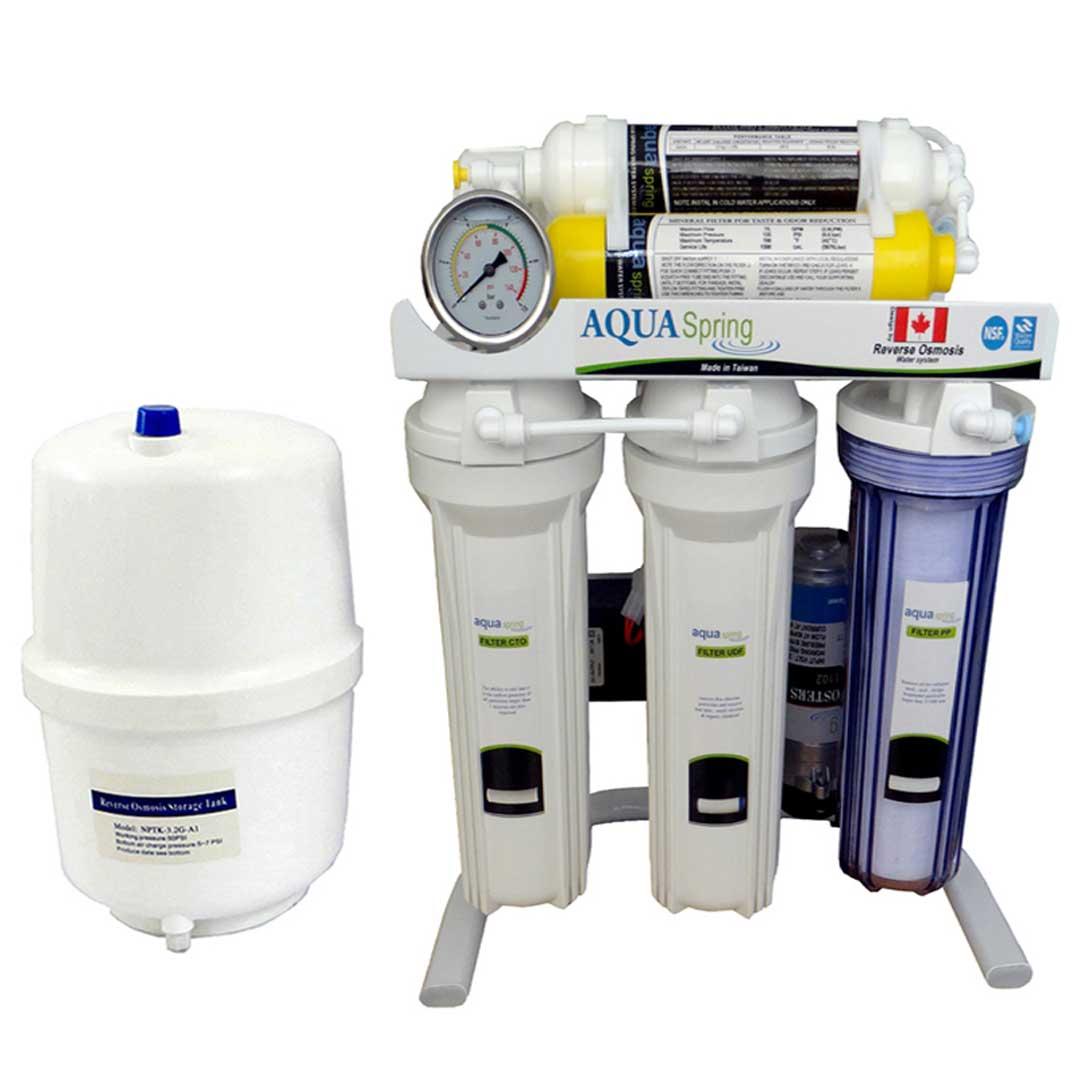 دستگاه تصفیه آب خانگی آکوا اسپرینگ (Aqua Spring) مدل RO-S140