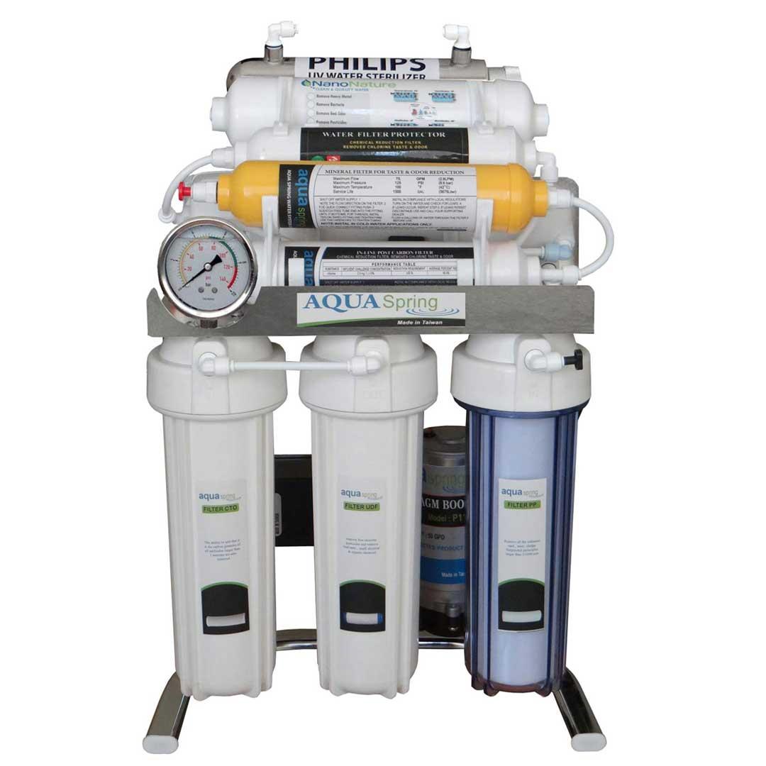 دستگاه تصفیه آب خانگی آکوآ اسپرینگ (Aqua Spring) مدل CHROME-XN9