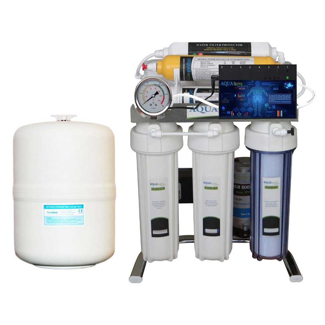 دستگاه تصفیه آب خانگیآکوآ اسپرینگ (Aqua Spring) مدل CHROME-BS8