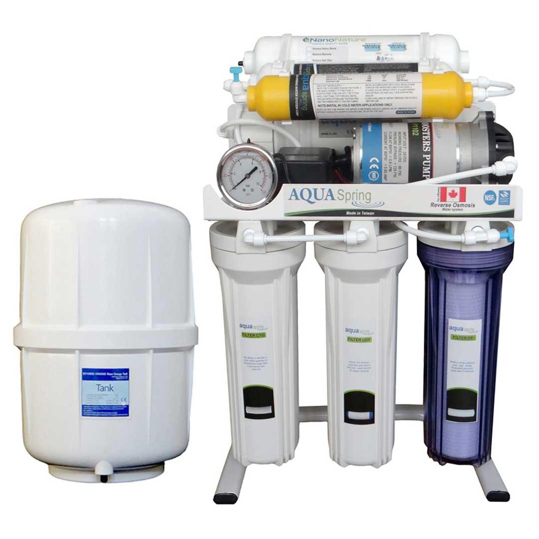 دستگاه تصفیه آب خانگی آکوآ اسپرینگ (Aqua Spring) مدل RO-S7-NATURE1200