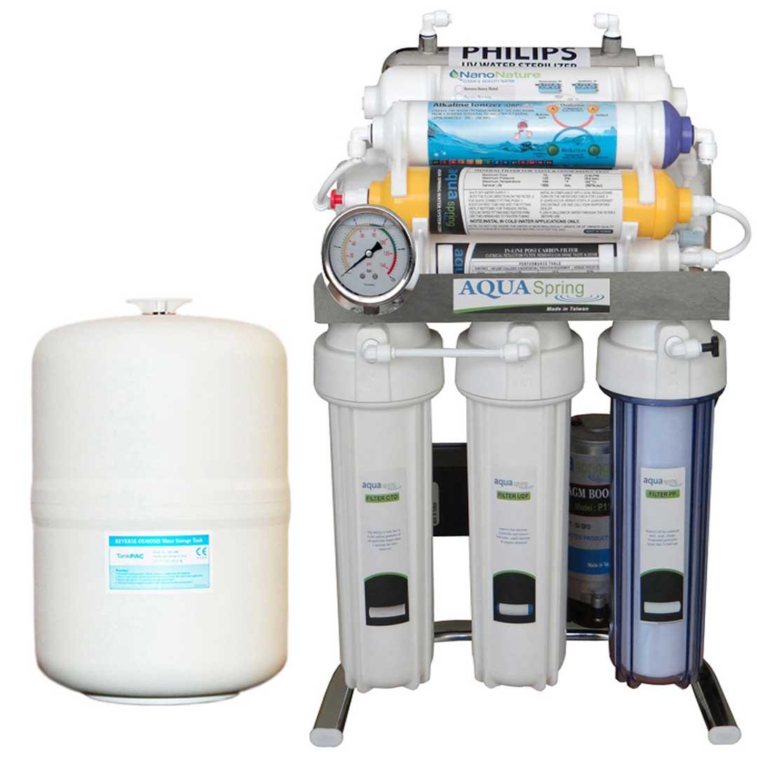 دستگاه تصفیه آب خانگیآکوآ اسپرینگ (Aqua Spring) مدل CHROME-XN10