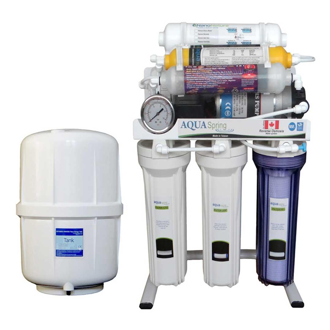 دستگاه تصفیه آب خانگی آکوآ اسپرینگ (Aqua Spring) مدل RO-S8-NATURE1800