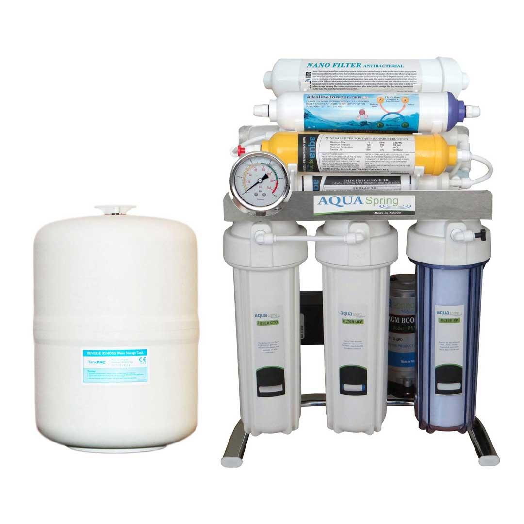 دستگاه تصفیه آب خانگی آکوآ اسپرینگ (Aqua Spring) مدل CHROME-AN9
