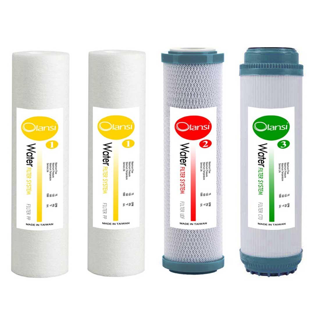 ست 4 عددی فیلترهای تصفیه آب خانگی اولانسی (Olansi) مدل EXTRA PP-1