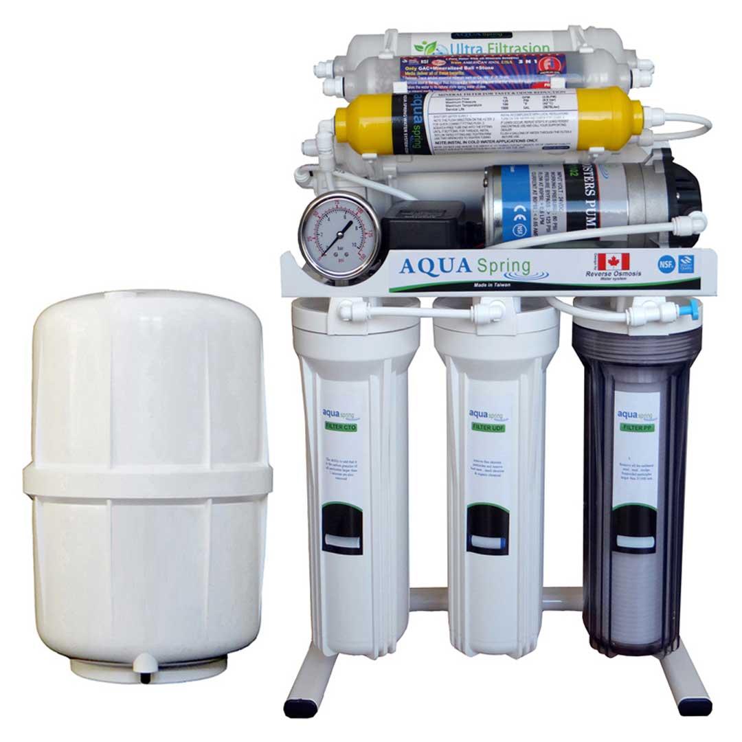 دستگاه تصفیه آب خانگی آکوآ اسپرینگ (Aqua Spring) مدل RO-AF1200