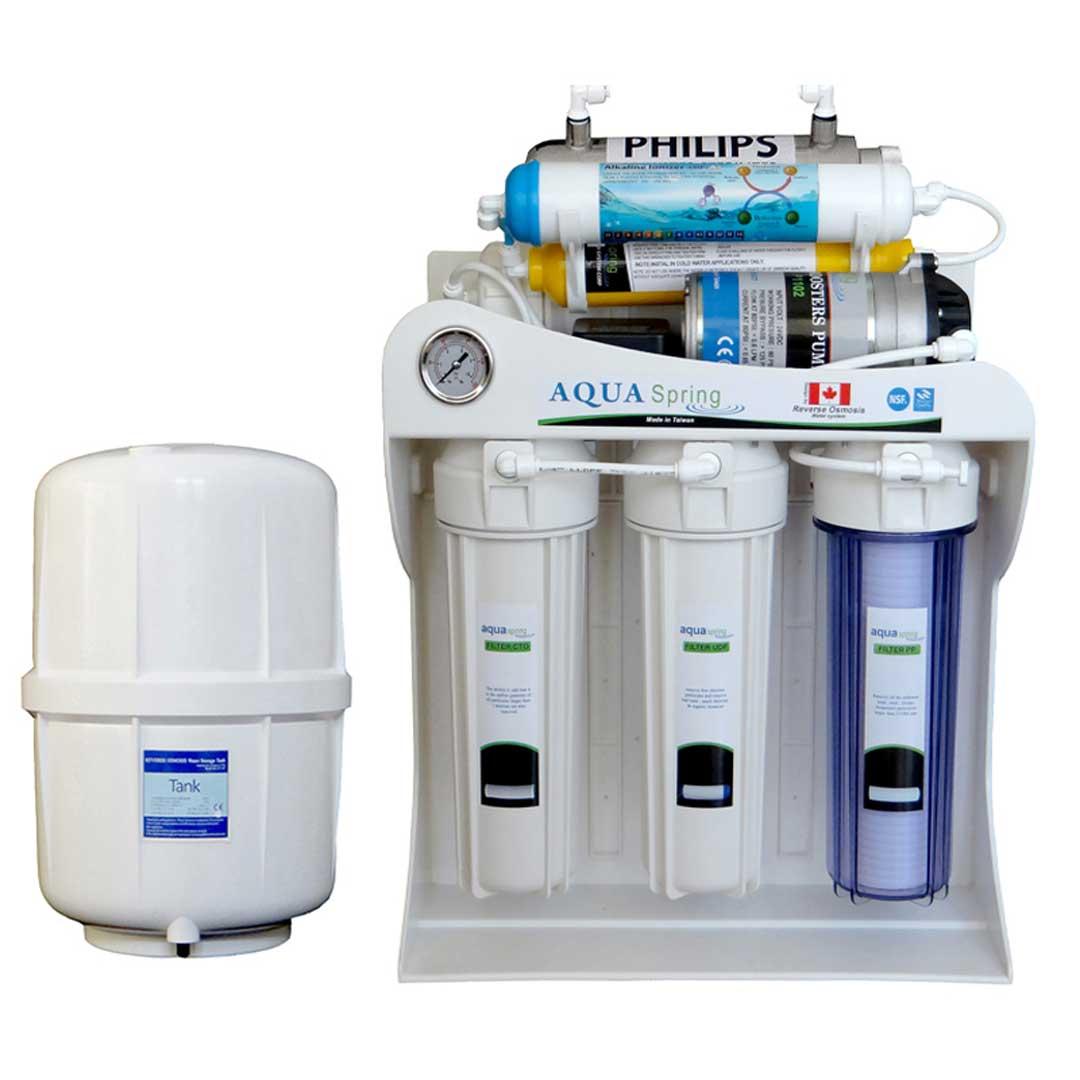 دستگاه تصفیه آب خانگی آکوآ اسپرینگ (Aqua spring) مدل AQ-SF2700