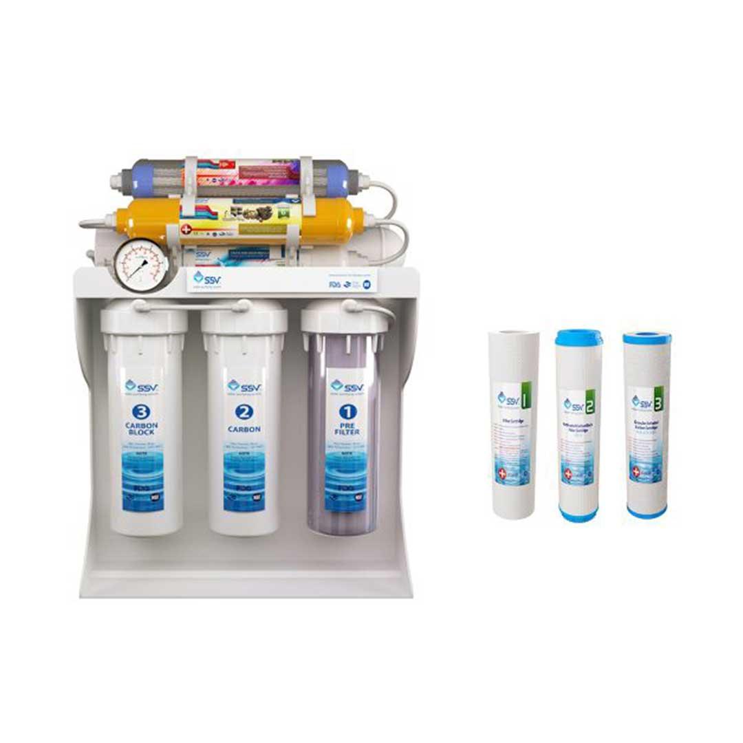 دستگاه تصفیه آب خانگی SSV مدل UltraPro X800 به همراه سه عدد فیلتر