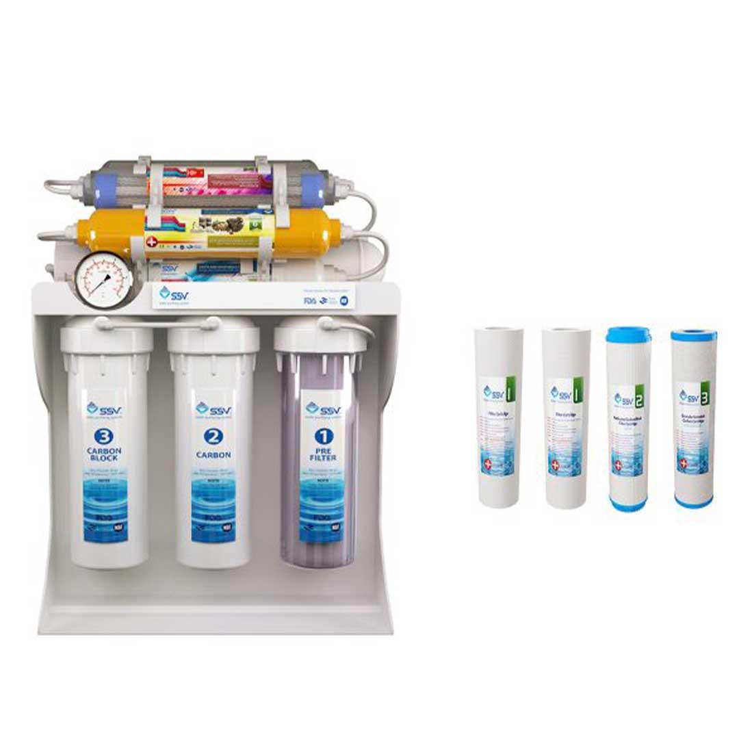 دستگاه تصفیه آب خانگی SSV مدل UltraPro X1000 به همراه 4 عدد فیلتر