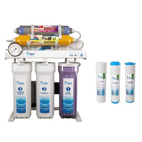 دستگاه تصفیه آب خانگی SSV مدل MaxTec X800به همراه 3 عدد فیلتر