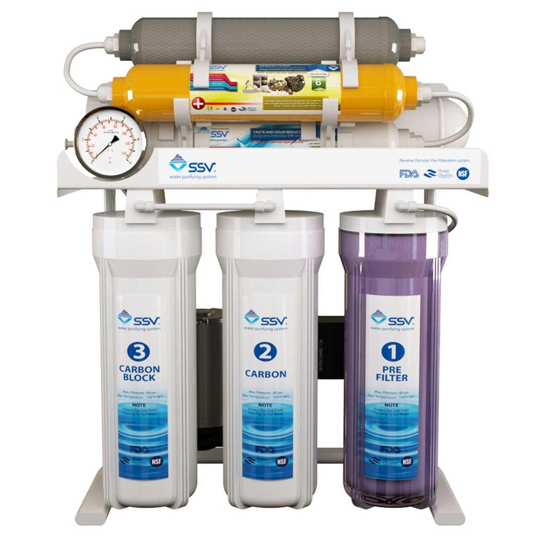 دستگاه تصفیه آب خانگی SSV مدل MaxTec X830 به همراه 4 عدد فیلتر