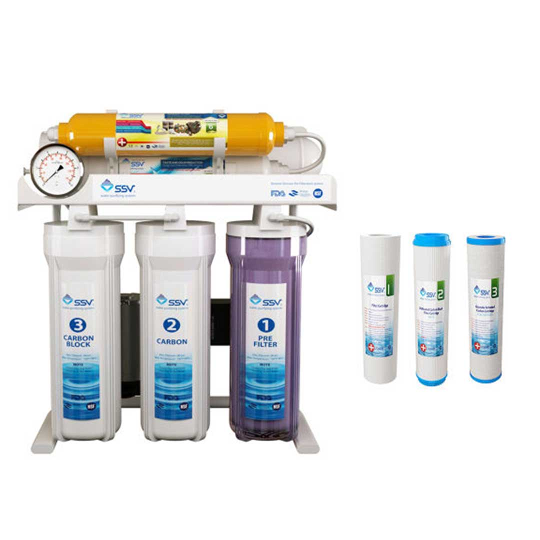 دستگاه تصفیه آب خانگی SSV مدل MaxTec X600 به همراه 4 عدد فیلتر